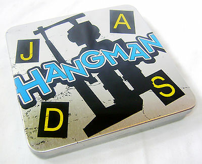 NEW MAGNETIC TRAVEL HANGMAN TRAVELLING GAME IN TIN GRAFIX