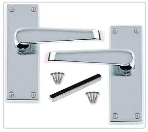 Satin Classic Stylish Victorian STRAIGHT Lever Latch Door Handles Internal D25