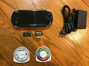 Sony-PSP-3000-3001-Black-Handheld-Console-32GB-Game-Bundle-With-Games-LOOK