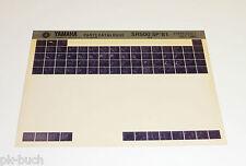 Microfich Ersatzteilkatalog Yamaha SR 500 SP ab 1981