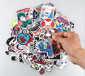 100pcs Cartoon JDM Car Sticker Laptop Luggage Skateboard Bomb Graffiti