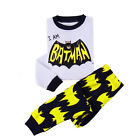 Enfants Bébé Batman Garçon Coton Pyjama De Nuit pyjama Ensemble Pyjama 2-8 Ans