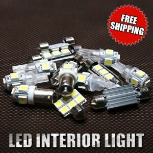 5X White LED Bulbs Interior Light Package Fit 2009-2012 Dodge RAM 1500 2500 3500