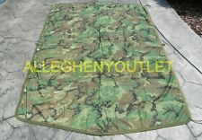 LN US Military Army Woodland Camo Wet Weather PONCHO LINER Woobie Blanket MINT
