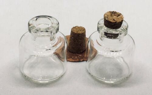 Échelle 1:12 Set De 3 Verre de Stockage Pots Avec Bouchons tumdee maison de poupées G 25 #