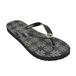 5d96915f60c6df Details about NEW Tory Burch T- Logo Rubber Flip Flops Sandals 6-10