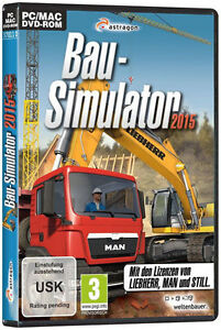 pc spiel bau simulator 2015 simulation 15 bagger bauarbeiter fahrzeuge neu ebay. Black Bedroom Furniture Sets. Home Design Ideas