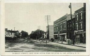 Postcard-Attica-New-York-Market-Street-One-Year-After-the-Fire-of-June-23-1907