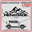 ADESIVO-JEEP-MOUNTAIN-RENEGADE-VINILE-NERO-BIANCO-ROSSO-30x15-CM-SPAZIATO miniatura 1