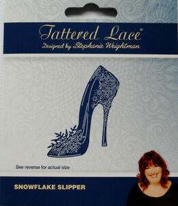 Well Heeled TLD0213 New Tattered Lace High Heeled Ladies Shoe Cutting Die