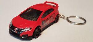 Hotwheels-16-Honda-Civic-Tipo-R-Llavero-Automovil-De-Fundicion