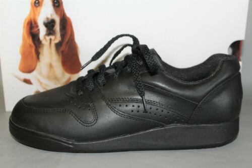 NEW Women/'s Hush Puppies Upbeat Black Leather Casual Comfortable Shoes