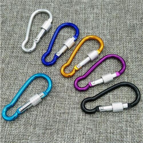 7pcs Coloured Carabiner Clip Snap Hook Small Keyring Camping Sports Karabiner
