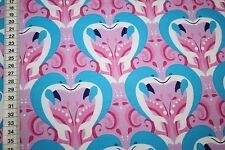 Hilco  Jersey Stoff  Delphine delphin Delfin pink blau  1m