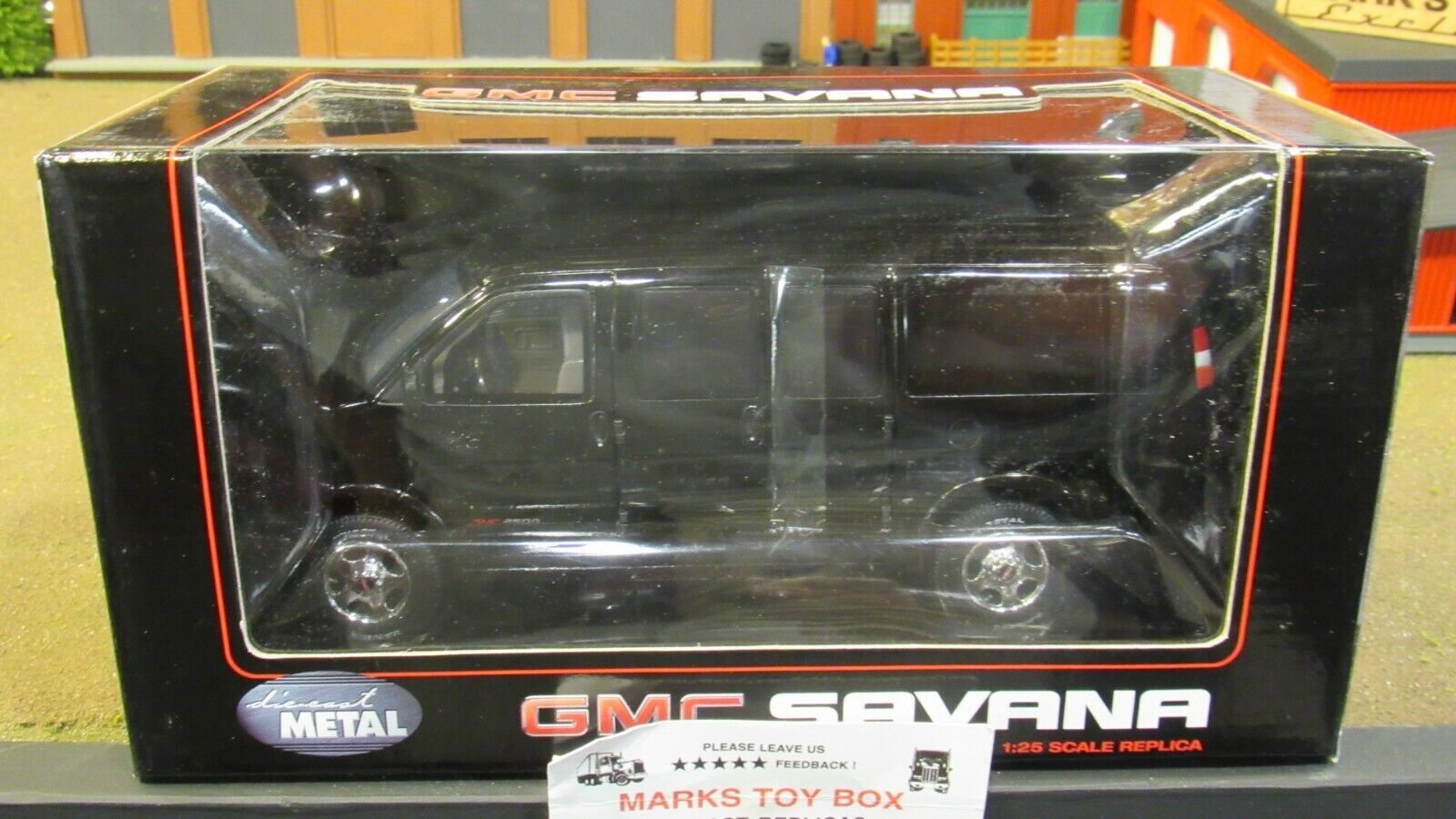 directo de fábrica Negro Hwy 61 DCP GMC Savana van de Cochega Cochega Cochega de entrega camión 1 25 1 24 cl  la calidad primero los consumidores primero