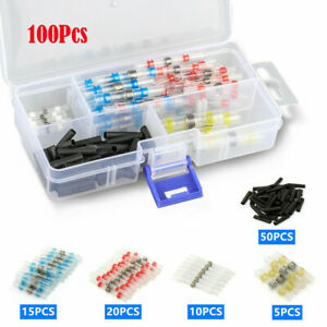 100PCS-Mix-Solder-Sleeve-Heat-Shrink-Butt-Waterproof-Splice-Wire-Connectors-Kit