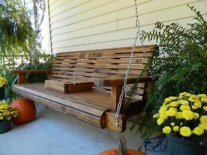 image is loading - Wooden Porch Swings
