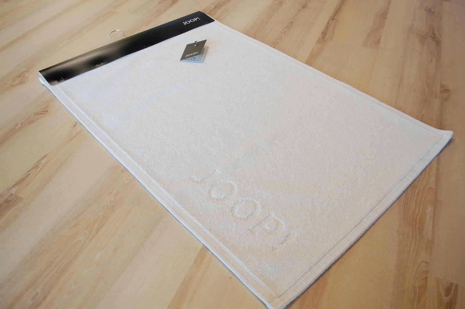 JOOP  Badematte Badteppich 49 Signature 001 Weiß 60x90 cm
