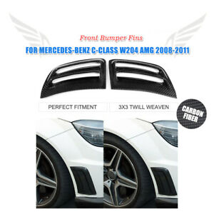 Fibra-De-Carbono-Parachoques-Delantero-Esquina-recorte-ventilaciones-de-aire-para-Mercedes-Benz-W204
