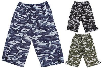 Sezon Pantalones Cortos para ni/ños de Pantalones Cortos para ni/ños con Estampado de Camuflaje Pantalones Cortos de f/útbol Bermudas