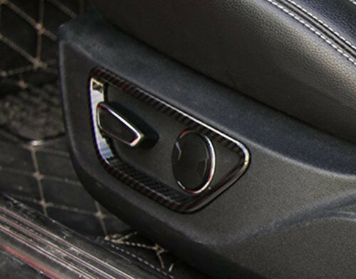 Seat Adjust Control Button Frame Cover Trim-Carbon fiber fits Ford Mustang 2015