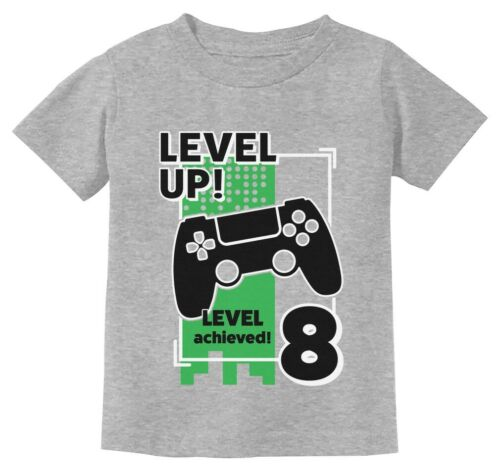 Gamer Birthday Shirt Level Up Video Game 8th Birthday Youth Kids T-Shirt