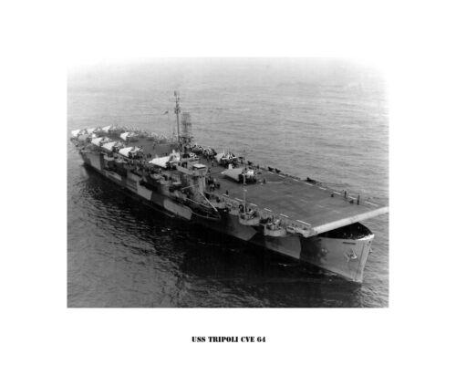 USS TRIPOLI CVE 64 Naval Ship Photo Print USN Navy