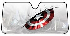 Marvel Captain America Shield Cracked Windshield Sun Shade Protector  58''x 27''