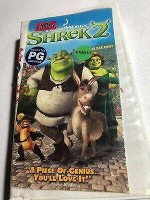 Shrek 2 Vhs Hard Shell Dream Works 678149087437 Ebay