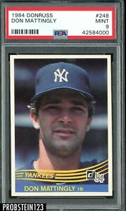 1984-Donruss-248-Don-Mattingly-New-York-Yankees-RC-Rookie-PSA-9-MINT