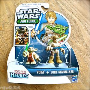 STAR-WARS-Jedi-Force-YODA-amp-LUKE-SKYWALKER-Playskool-Heroes-HASBRO-2pk