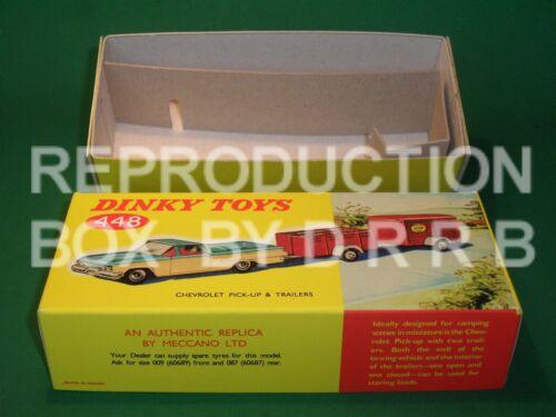 Dinky #448 Chevrolet el camino de recogida y 2 remolques-Caja de reproducción por drrb