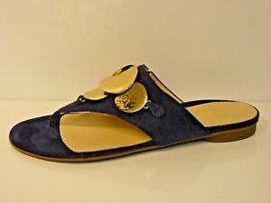 865c76d661e499 Das Bild wird geladen Gabor-Schuhe-Pantoletten-Sandalen -Zehensteg-Dianetten-blau-marine-