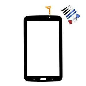 Vitre-Tactile-SM-T211-TAB-3-Assemblee-Adhesif-Premonte-Samsung-Ecran-Verre-Noir
