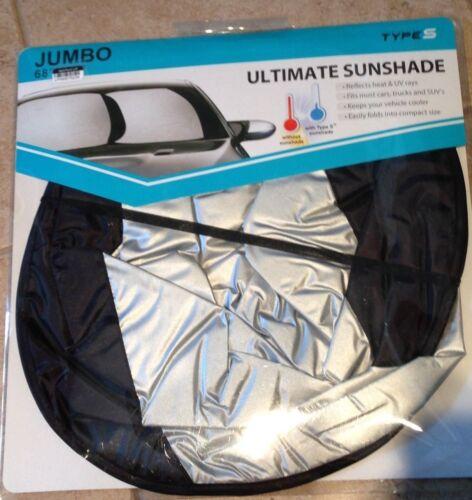 Ultimate Sunshade Jumbo windshield  Reflects Heat and UV Lights 68 x 32