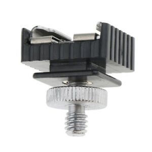 Hot shoe adapter with 1/4 inch tripod screws universal for Canon