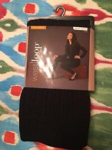 e503d6854f3cf New West Loop Fleece Leggings Size M/L (8-12) Black Textured | eBay