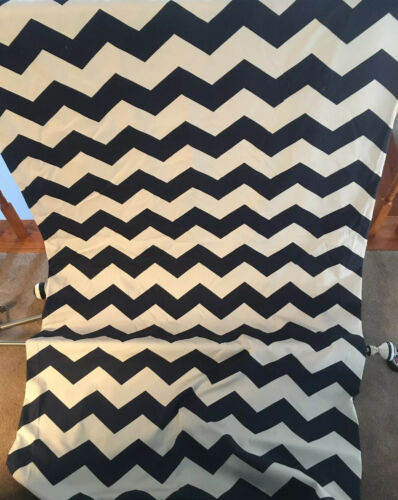 Pottery Barn Kids Chevron Black Out Curtains Navy Baby Nursery Lot Of 4 Panels