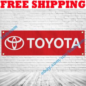 Toyota Logo Banner Flag 18x59 in Car Racing Show Garage Wall Sign Decor 2019