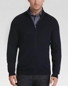 a40e477b10fc Image is loading Joseph-Abboud-Indigo-Full-Zip-Sweater