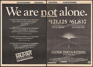 CLOSE ENCOUNTERS OF THE THIRD KIND__Orig. 1977 early boxoffice Trade AD / poster