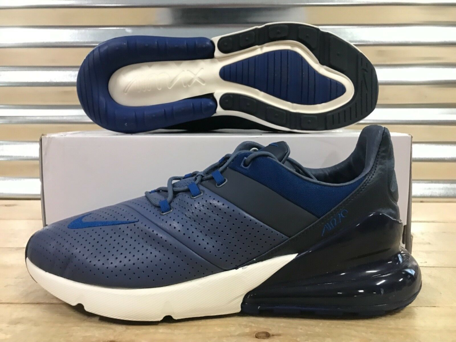 Nike Air Max 270 Premium shoes Diffused blueee Gym Navy SZ 13 ( AO8283-400 )