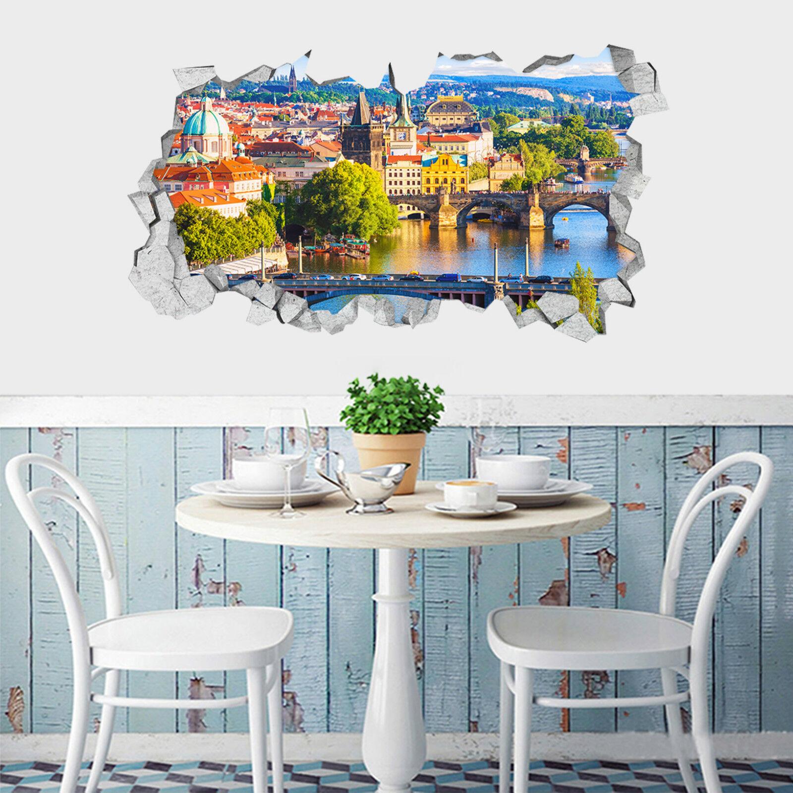 3D Seehaus 523 Mauer Murals Aufklebe Decal Durchbruch AJ WALLPAPER DE Lemon