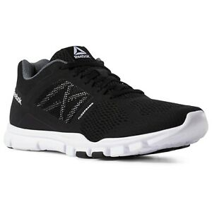 Reebok-Yourflex-Trainette-11-Men-039-s-Training-Shoes-US-Size-9-5-Black-Grey-White