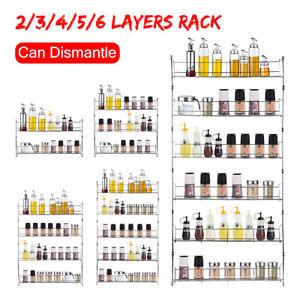 4-5-6-Tier-Spice-Rack-Organizer-Wall-Mount-Storage-Kitchen-Pantry-Shelf-Holder