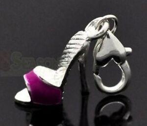 Schuh High Hell Charms lila Anhänger für Bettelarmband Charm Armband Karabiner