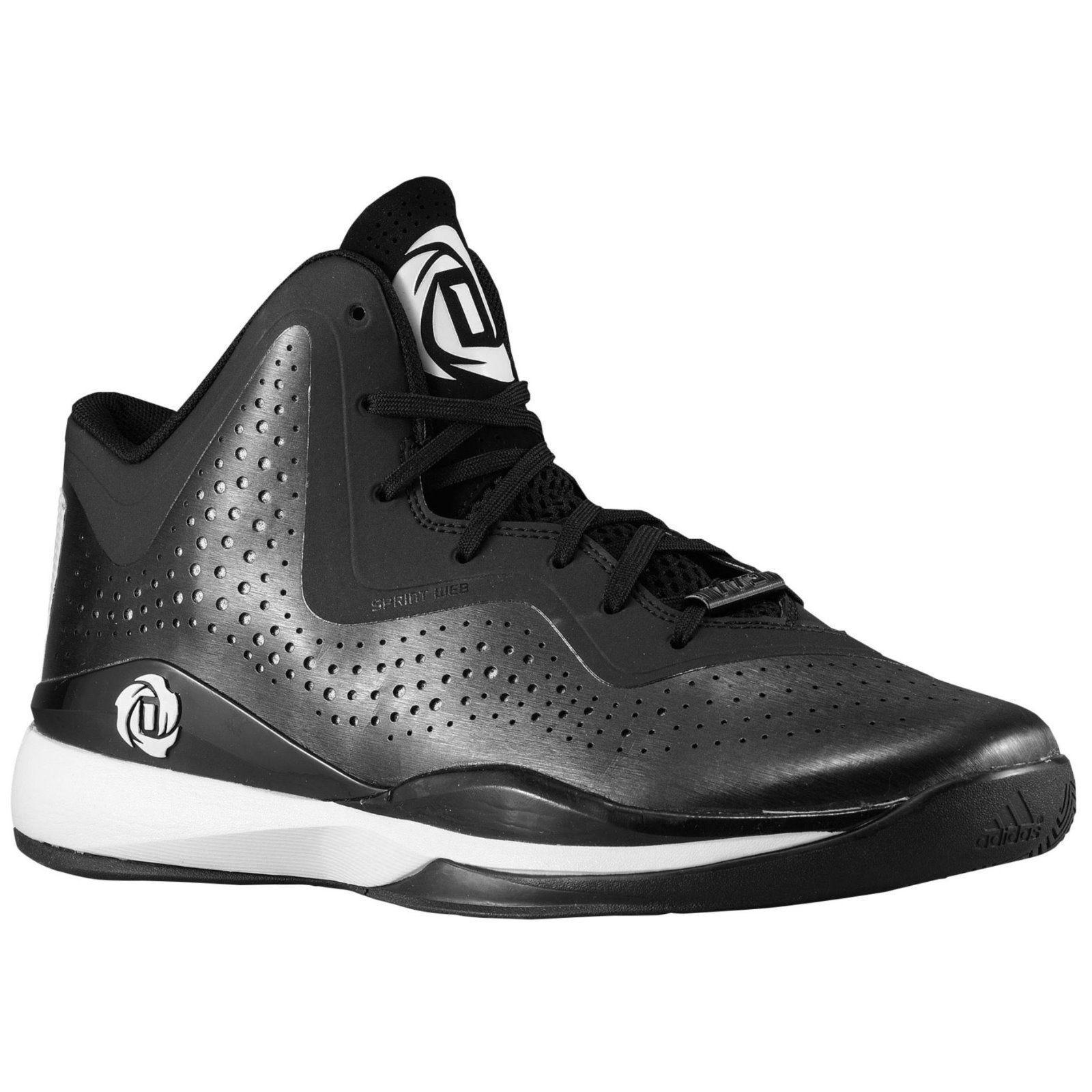 NEW Adidas D Rose 773 III Uomo Basketball Shoes Nero/White - Size 7.5. MRS  115