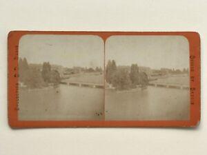 Geneve Suisse Fotografia Stereo Vintage Albumina c1870