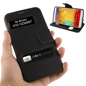 Fuer-Samsung-Galaxy-Note-3-N9000-mit-Sichtfenster-Klapp-Etui-Tasche-Huelle-Cover-S