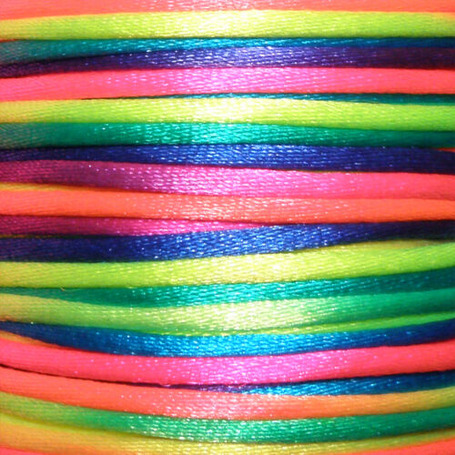 elección de color 1lfd metros alrededor de banda joyas collar satén Band 2mm Salía